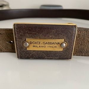 Dolce and Gabbana mens belt